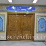 درب ورودی حسینیه ثارالله آموزش و پرورش